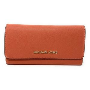 Michael Kors Jet Set Travel Trifold Wallet Pink